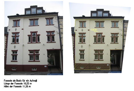 Aufmaß einer Fassade