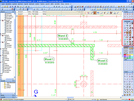Aufmass in DIG-CAD
