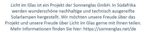 Licht im Glas der Sonnenglas GmbH
