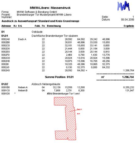 Ausdruck Mengenermittlung aus MWM-Libero
