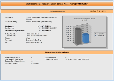 Info-Projektvolumen