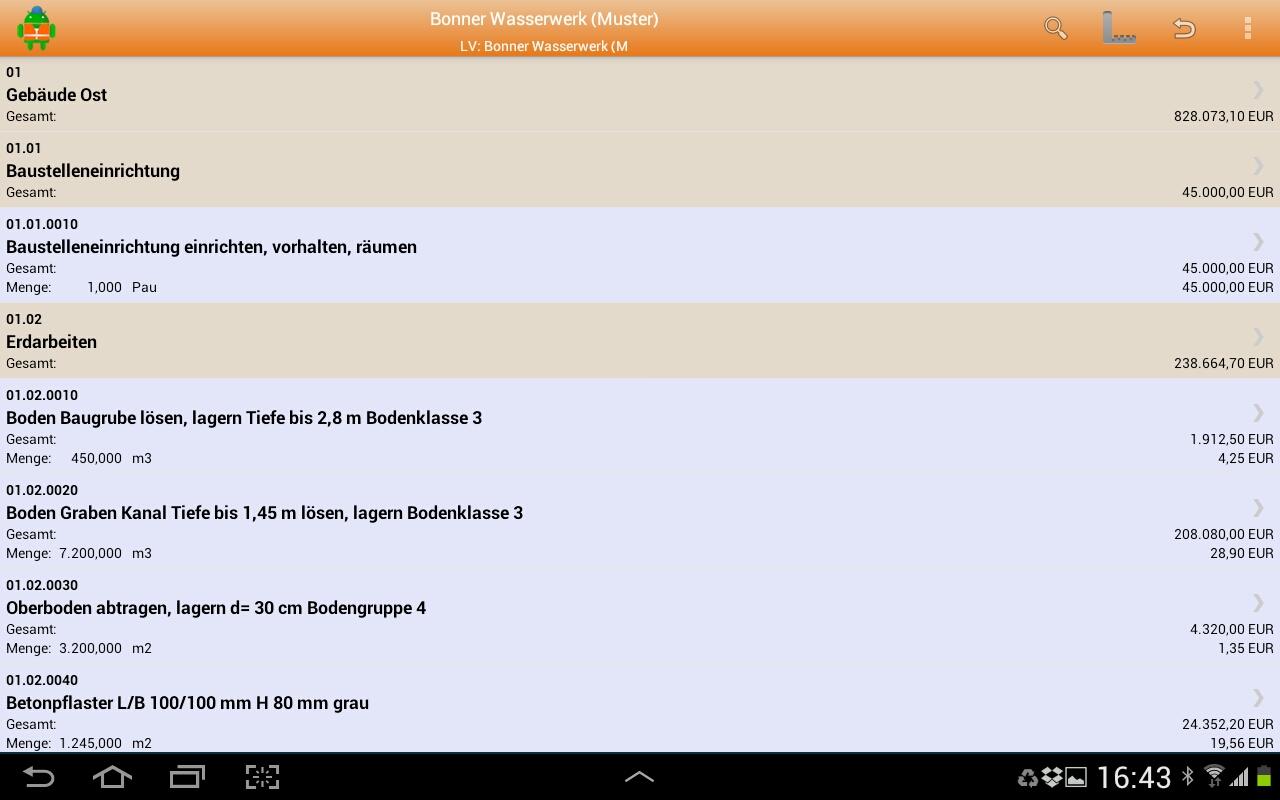 MWM-Piccolo für Android-Positionsübersicht