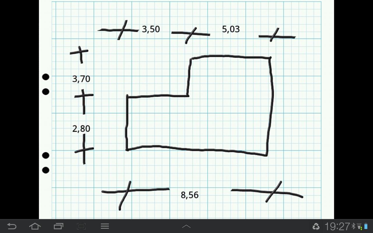 Eine auf dem Tablet erstellte Skizze