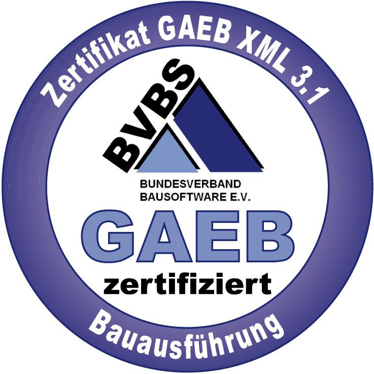MWM-Pisa ist GAEB-Zertifiziert