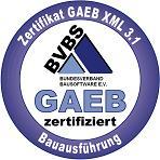 Zertifizierungssiegel GAEB DA XML 3.1