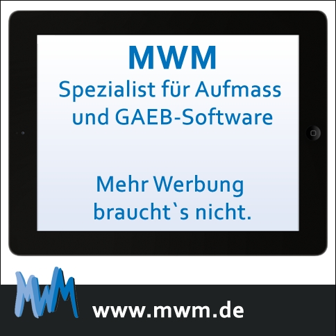 MWM Spezialist für Aufmass und GAEB-Software