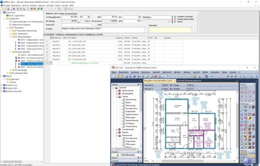 Grafische Aufmaß- und Mengenermittlung mit MWM-Libero und DIG-CAD Aufmaß