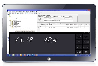 Mobiles Aufmaß auf dem Windows 8 Tablet