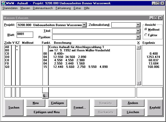 MWM-Aufmaß - Die erste mobile Anwendung von MWM