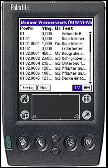 MWM-Piccolo - unsere erste Anwendung für den Palm