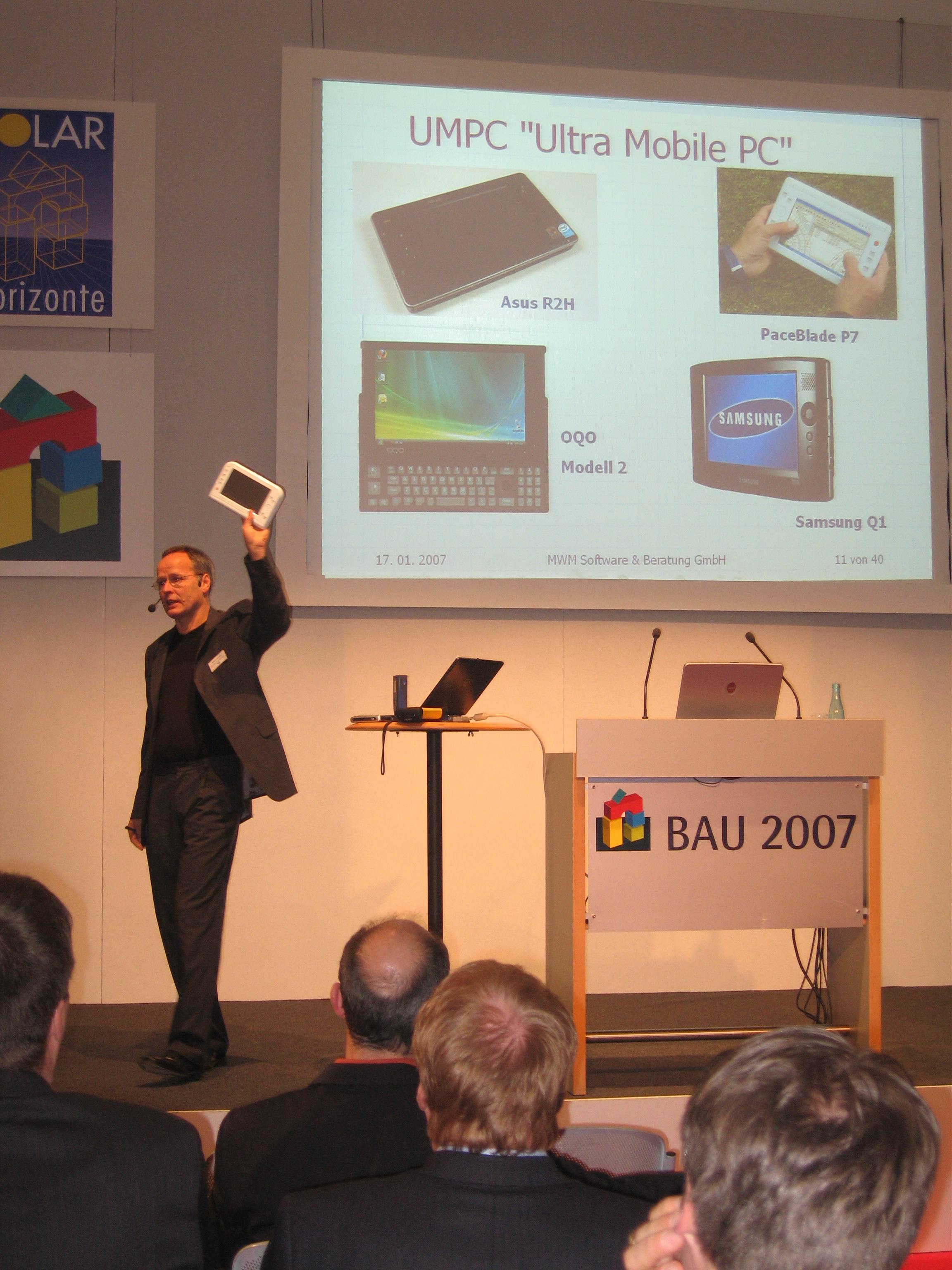 MWM-Vortrag auf der BAU 2007 in München