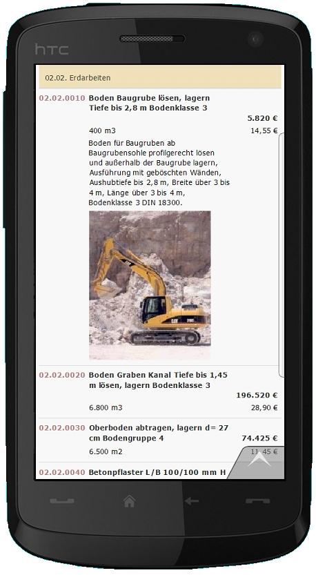 GAEB-Daten auf beliebigen mobilen Geräten