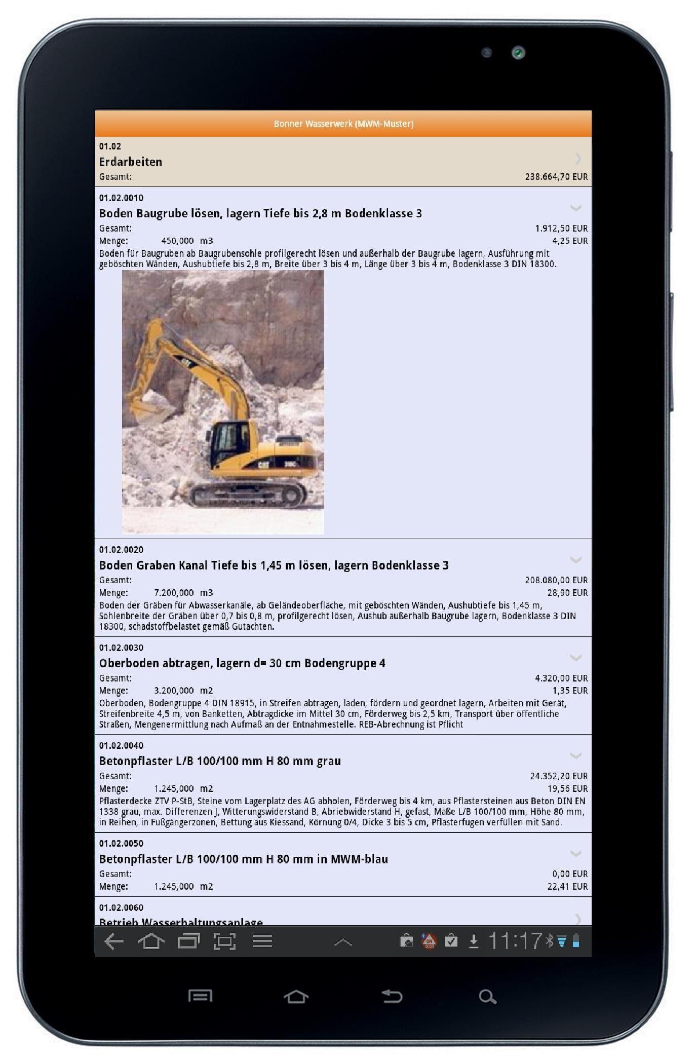 MWM-Piccolo für Android auf einem Samsung Pad