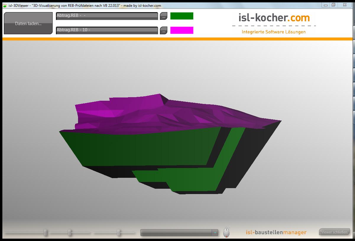 3 D Viewer für DGB-REB-Daten