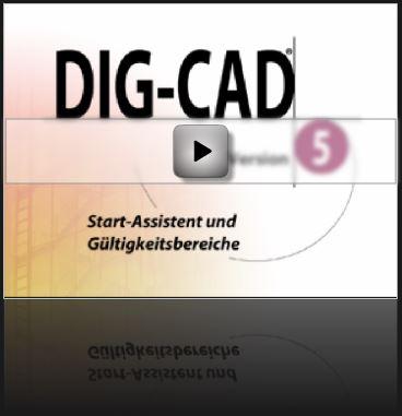 Tutorial DIG-CAD: Start-Assistent und Gültigkeitsbereiche
